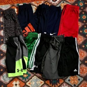 Boy's Shorts Bundle Under Amour/Nike/Adidas YSM